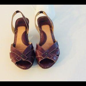 Born brown sandals. Size 6.5 USA 36.5 EU.